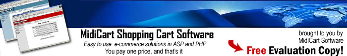 MidiCart ASP and PHP Shopping Cart Software